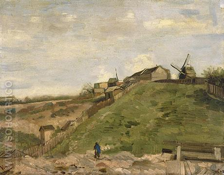 The Hill of Montmartre with Stone Quarry 1886 - Vincent van Gogh reproduction oil painting