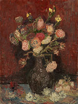Vase with Autumn Asters c1886 - Vincent van Gogh reproduction oil painting