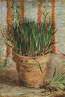 Flowerpot with Chives 1887 - Vincent van Gogh reproduction oil painting
