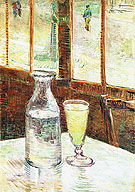 Glass of Absinthe and a Carafe 1887 - Vincent van Gogh reproduction oil painting