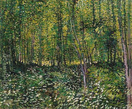 Trees and Undergrowth Summer 1887 - Vincent van Gogh reproduction oil painting