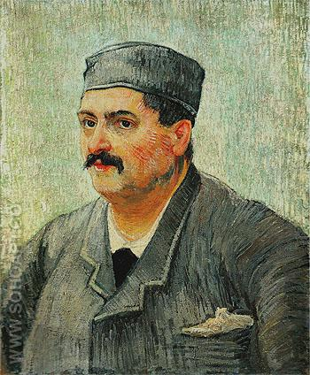 Portrait of a Restaurant Owner Possibly Lucien Martin 1887 - Vincent van Gogh reproduction oil painting