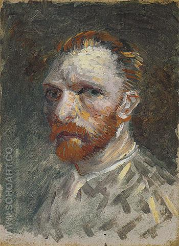Self Portrait 1887 - Vincent van Gogh reproduction oil painting