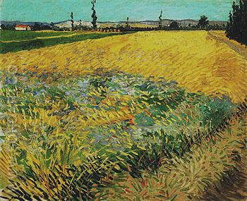 Wheatfield June 1888 - Vincent van Gogh reproduction oil painting