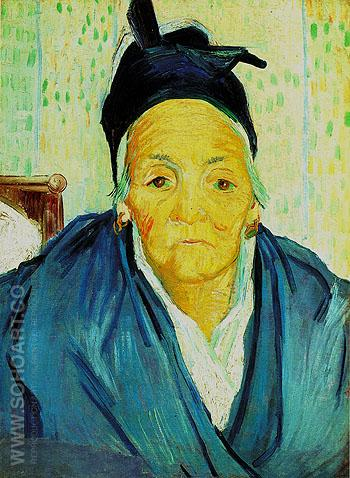 An Old Woman from Arles 1888 - Vincent van Gogh reproduction oil painting