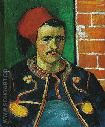 The Zouave June 1888 - Vincent van Gogh reproduction oil painting