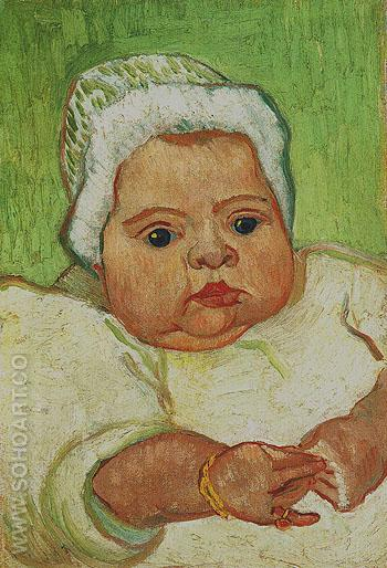 Portrait of Marcelle Roulin December 1888 - Vincent van Gogh reproduction oil painting
