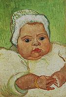 Portrait of Marcelle Roulin December 1888 - Vincent van Gogh reproduction oil painting