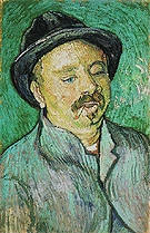 Portrait of a One Eyed Man 1888 - Vincent van Gogh reproduction oil painting