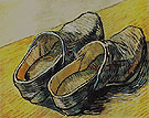 A Pair of Leather Clogs 1889 - Vincent van Gogh reproduction oil painting