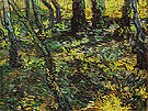 Undergrowth 1889 - Vincent van Gogh reproduction oil painting