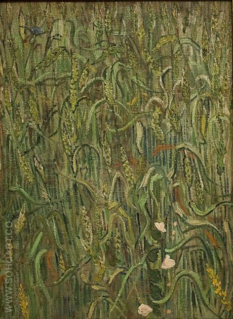Ears of Wheat June 1890 - Vincent van Gogh reproduction oil painting