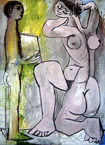 La Coiffure - Pablo Picasso reproduction oil painting