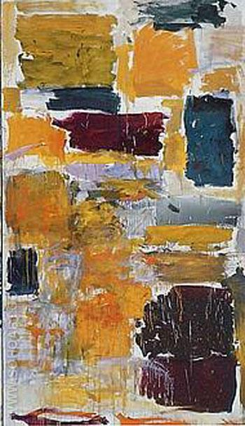 Plowed Field Section 3 - Joan Mitchell reproduction oil painting