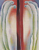 Red Lines Blue And Red Lines 1923 - Georgia O'Keeffe