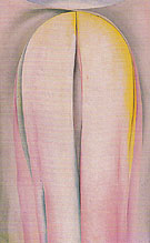 Grey Line With Lavender And Yellow 1923 - Georgia O'Keeffe