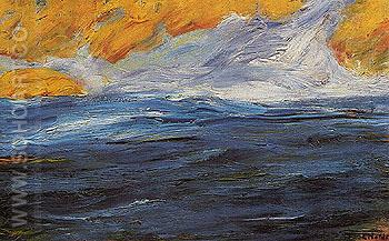 Autumn Sea 1 1910 - Emile Nolde reproduction oil painting