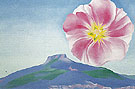 Hollyhock Pink With The Pedernal New Mexico 1937 - Georgia O'Keeffe