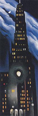 Ritz Tower Night 1928 - Georgia O'Keeffe