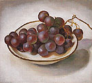 Grapes On White Dish Dark Rim 1920 - Georgia O'Keeffe