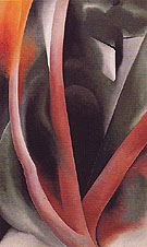 Birch And Pine Trees Pink 1925 - Georgia O'Keeffe