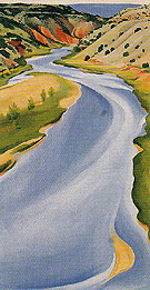 Chama River Ghost Ranch Blue 1937 - Georgia O'Keeffe