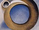 Goats Horns With Blue 1945 - Georgia O'Keeffe