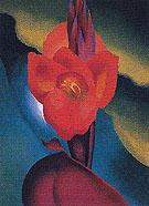 Red Canna A 1919 - Georgia O'Keeffe