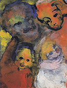 Family with Two Children - Emile Nolde