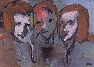 Three Heads - Emile Nolde