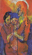 Mother with Two Children - Emile Nolde