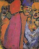 Encounter Four Figures - Emile Nolde