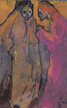 Two Women Brown and Red - Emile Nolde