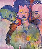 Three Young Women - Emile Nolde