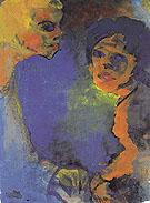 Two Women against a Blue Sky - Emile Nolde