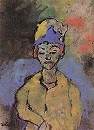 Woman in a Blue Hat - Emile Nolde