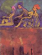 Scene with Four Figures - Emile Nolde
