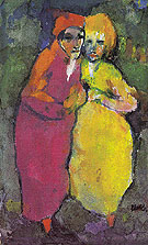 Couple Red and Yellow - Emile Nolde