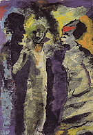 Conversation with Shadows - Emile Nolde