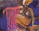 Crouching Nude - Emile Nolde