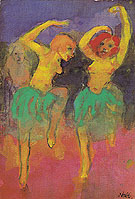 Two Dancers Redhead and Blonde - Emile Nolde