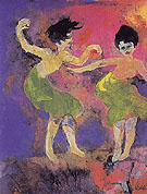 Dancing Women with Green Skirts - Emile Nolde