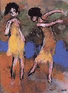 Two Dancing Girls - Emile Nolde