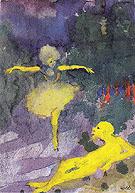 Dancer and Reclining Man - Emile Nolde