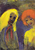 Two Women Yellow and Red Hair - Emile Nolde