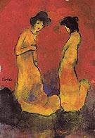 Two Women in Long Gowns - Emile Nolde