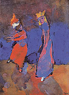 King and Dancing Woman - Emile Nolde