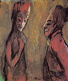 Strange Couple Brown Ground - Emile Nolde