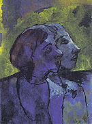 Blue Couple in Sidelight - Emile Nolde