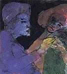 Flirting Blue violet and Green - Emile Nolde
